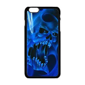 Blue fluorescence skull Phone Case for iPhone 6 Plus 5.5""
