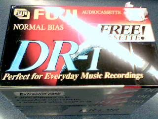 Fuji Photo Film Co., LTD. Fuji DR-I Normal Bias Blank Recording AudioCassettes 6 pack with extra slim cases