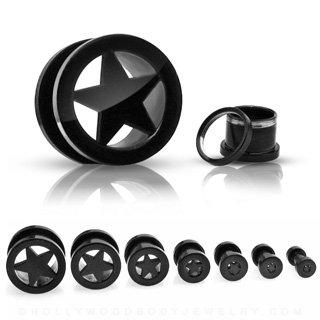 Piercing PFTK19-X - Túnel para oreja, diseño de estrella ...