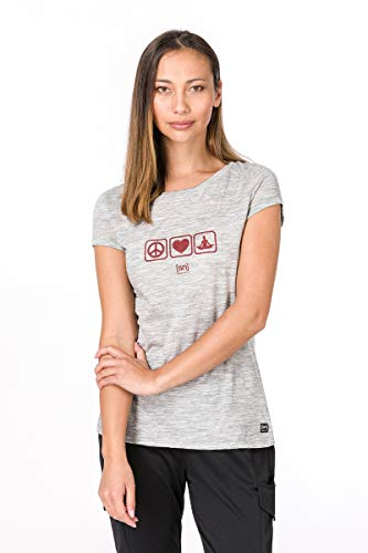 Melange Super Camiseta De nbsp;merino Digital 140 W peace Natural Ash Print Graphic z4qwa1z