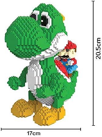 Figura Yoshi Super Mario Bros Juego Bloques de construccion tamaño ...