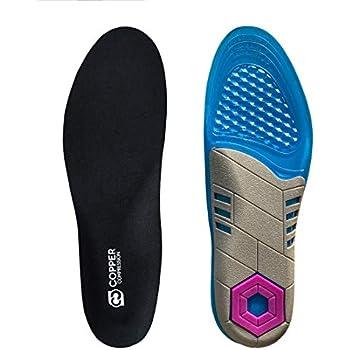 Amazon Com Copper Compression Gel Shoe Insoles For Men