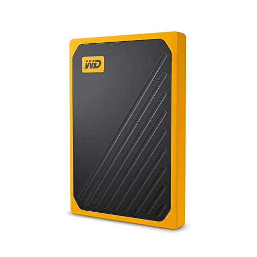 (WD 500GB My Passport Go SSD Amber Portable External Storage, USB 3.0 - WDBMCG5000AYT-WESN )