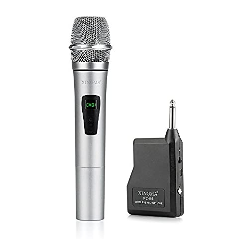 Vangoa - Professional Rechargeable PC-K6 Handheld Wireless Microphone System Singing for Home/Party