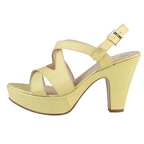 V 1969 MARCELLE_MIMOSA Sandalias De Vestir Para Mujer Tacón: 10 cm Amarillo