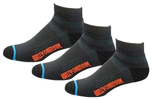 Harley-Davidson Men's Comfort Cruiser Low-Cut Riding Socks D99203270, 3 Pairs