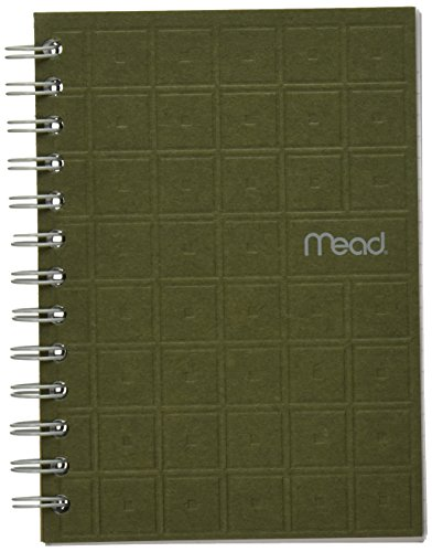 "Mead Spiral Notebook, College Ruled Paper, 80 Sheets, 7"" x 5"", Recycled, Assorted Colors (45186)"