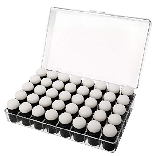 40 Pcs Finger Sponge Daubers with Storage Box for Painting Chalk Ink Card Making Drawing ()
