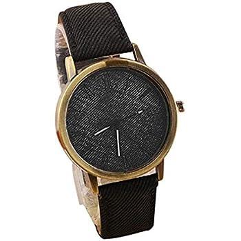 Big Windoson Women Quartz Watches Analog Ladies Watches Girl Watches Leather Female Watches (Black)