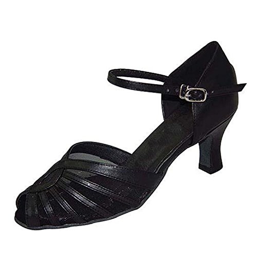6CM Dance YFF Femmes 35 Tango Latine Danse Chaussures Black Danse Cadeaux LEIT Dance CtvdTqq