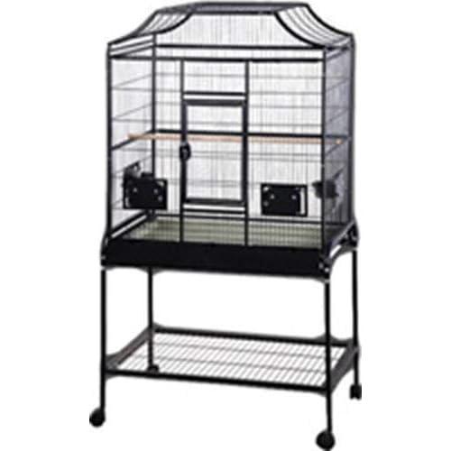 Image of Pet Supplies A&E Cage Co. 32' x 21' x 61' Elegant Flight Cage, Black