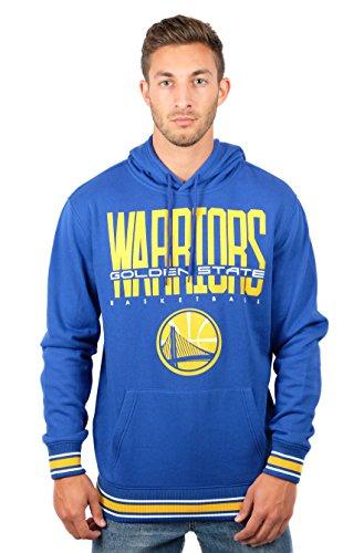 NBA Golden State Warriors Men's Fleece Hoodie Pullover Sweatshirt Focused Stripe, Large, Royal for $<!--$32.49-->