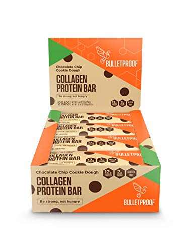 Bulletproof Bars Collagen Protein, Perfect Keto Diet Snack Bar For Men And Women (Cookie Dough)