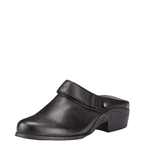 ARIAT Women's Sport Mule Black Deertan Size 9 B/Medium Us (Leather Ariat Clogs)