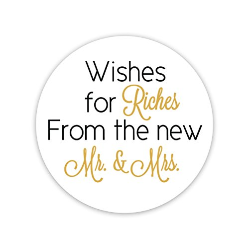 60Ct   1 5    Wishes For Riches For The New Mr And Mrs  Lottery Ticket Wedding Favor Stickers   214 Bg