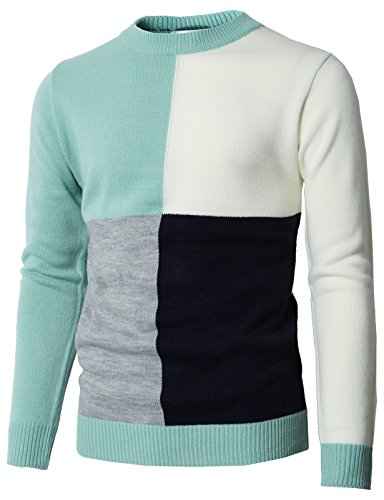 Sleeve Short Turtleneck Mock Golf (H2H Mens Casual Golf Long Sleeve Sweater Pullover Mint US M/Asia L (KMOSWL0224))