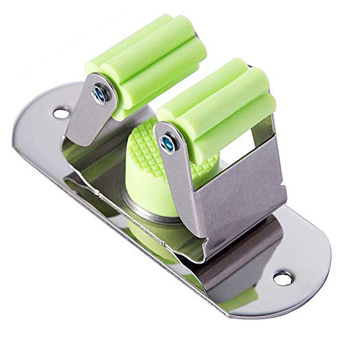 Mop and Broom Holder Wall Mount, Munto Stainless Steel Mop Holders, Garage Storage Racks for Kitchen and Garden