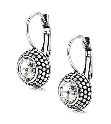Kesaplan Crystals Dangle Earrings for Women Lever-Back Drop Statement Earrings, Crystals from Swarovski, Gift for Christmas