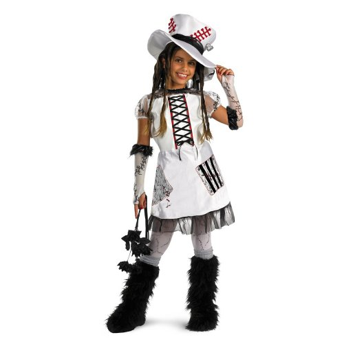 Really Scary Halloween Costumes For Kids (Skeleton Bride - White - Size: Child M(7-8))