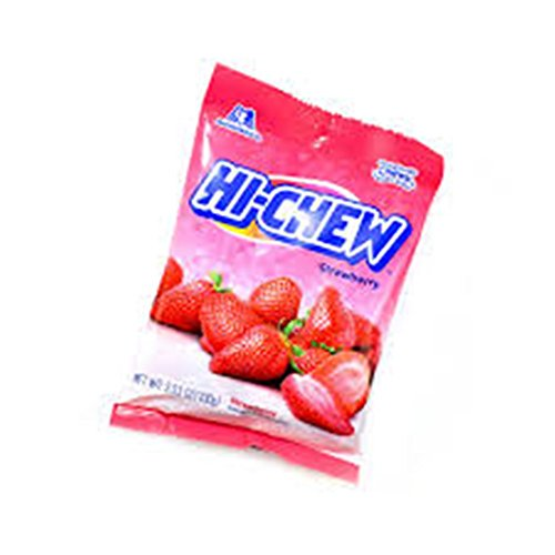 Hi-Chew Strawberry Fruit Flavored Chew Candy, 3.53 oz, Pack of 2 by Hi-Chew Candy