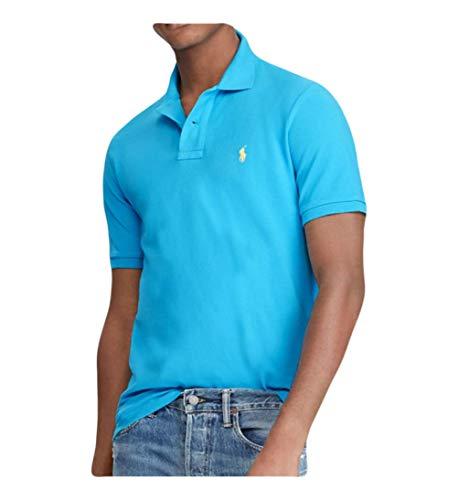 RALPH LAUREN Polo Men's Classic Fit Cotton Mesh Short Sleeve Polo Shirt (Cove Blue, XX-Large) ()
