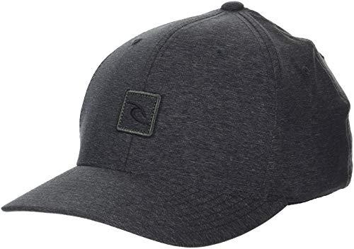 Rip Curl Icon - Rip Curl Men's Icon Voyager Flexfit, Charcoal Gray, 1SZ