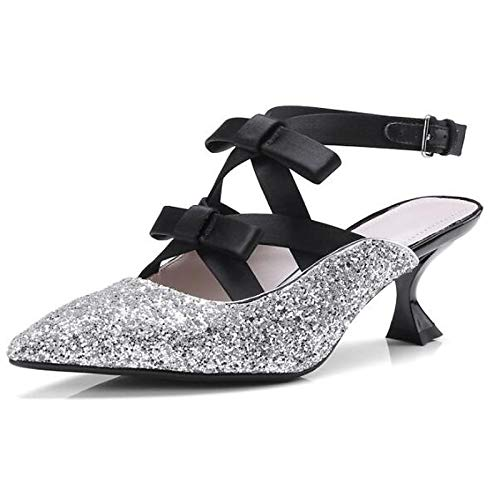 Women's Heterotypic Comfort Silver Gold Summer Heel Suede Gold Heels Synthetics ZHZNVX Black HwSqHd
