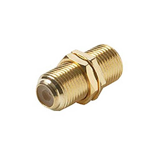 - Single F Type Barrel Coupler Gold Plate F-81 F to F Female Connector Wall Plate Use Barrel 10 Pack Jack Splice Connector Adapter Jointer Coupling Audio Video Coaxial Cable Plug Extension