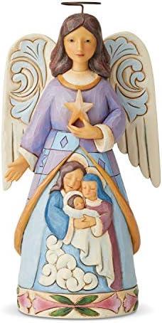 Enesco Jim Shore Heartwood Creek AngelHoly Family Figurine 7.25 Inch Multicolor