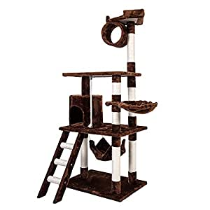 Carb-certified Merax Cat Tree Cat Tower House with Condo Scratching Post (Design-NO.1)