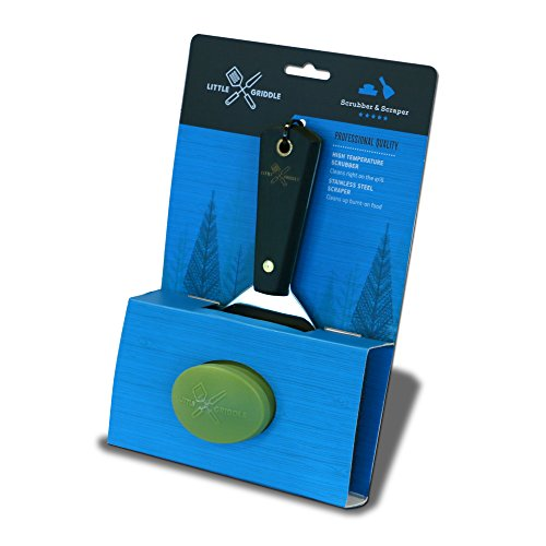 Little Griddle GK540 Grill Cleaning Kit, Silver/Black/Green (Little Griddle Spatula compare prices)