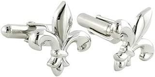 product image for David Donahue Men's Sterling Silver Fleur de Lis Cufflinks (CL003402)