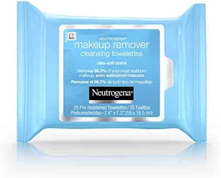 Neutrogena Cleansing Makeup Remover Facial Wipes, Waterproof Mascara Remover Refill Pack, 25 Count(Pack of 6)