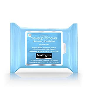 Neutrogena Cleansing Makeup Remover Facial Wipes, Waterproof Mascara Remover Refill Pack, 25 Count (Pack of 6)