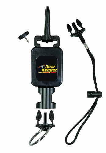 (Gear Keeper RT4-5973 Compact Console Retractor Combo Mount (Snap/Threaded Stud) with Q/C-II Split Ring and Lanyard Accessory)