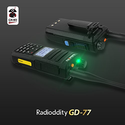 Radioddity GD 77 Dual Band Dual Time Slot DMR Digital / Analog Two Way Radio 136 174 /400 470MHz 1024 Channels Ham Amateur Radio Compatible with MOTOTRBO, Free Programming Cable