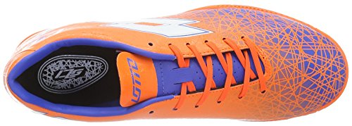 Lotto Lzg VIII 700 TF, Chaussures de Foot Homme, Multicolore-Naranja/Blanco (Fant FL/Wht), 41 EU