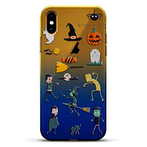 FANTASY: HALLOWEEN FUNNY SPOOKY ZOMBIE GHOST WITCH | Luxendary Gradient Series Clear Ultra Thin Silicone Case for iPhone Xs Max (6.5