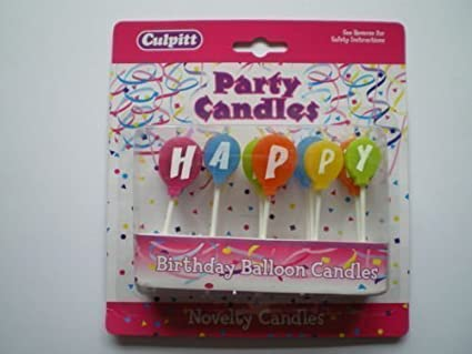 Happy Birthday Balloon Candles Amazoncouk Kitchen Home