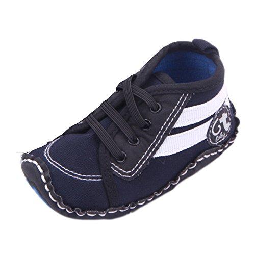 Fire frog Running Sneaker - Zapatos primeros pasos de Lona para niño azul marino