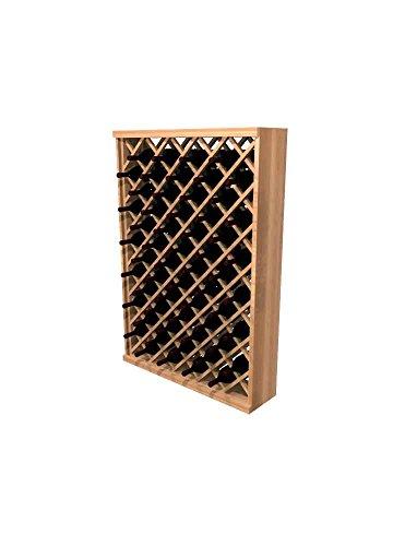 Winemaker Series Wine Rack -Individual Diamond Bin - 4 Ft - Premium Redwood Classic Mahogany ()