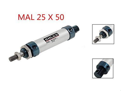Single Rod Double Action Pneumatic Air Cylinder 6mm Bore 25mm Stroke