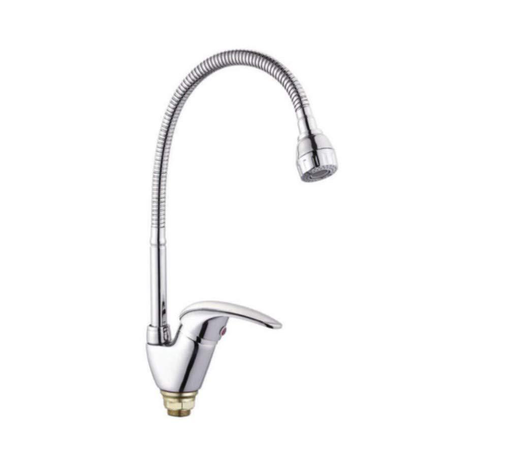 Edelstahl Einhand Mischer Einhebel Küchenarmatur Mixer Crane Cold Und Hot Kitchen Single Hole Wasserhahn Single