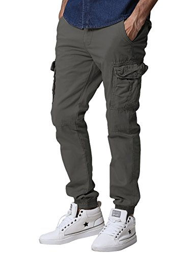 match-mens-regular-fit-chino-jogger-cargo-pant-34w-x-33l-6539-army-gray