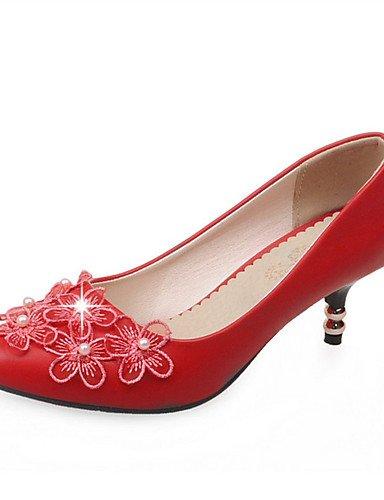 Rojo tac¨®n Eu45 Casual 5 tacones negro Cn47 De Blanco Zq Uk10 5 Red semicuero Vestido tacones boda Noche Fiesta us12 Zapatos Mujer Azul Y Black Stiletto us12 C 5 1aYtqz