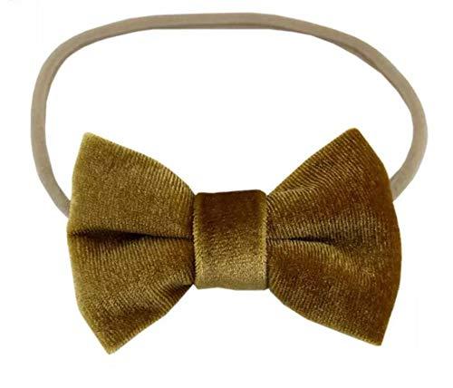 Mustard Yellow bow headband - Baby headband - Velvet bow - Girls headband -  Nylon headband - Headbands - Mustard bow - mustard velvet baby headband -  small ... 9d5cd2bff25