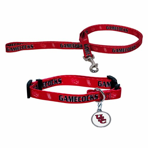 South Carolina Gamecocks NCAA Dog Collar & Leash Set