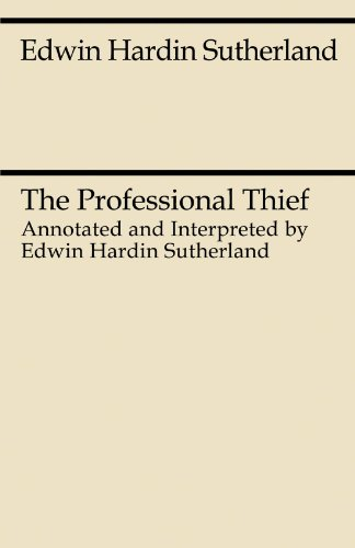The Professional Thief (Midway Reprint)