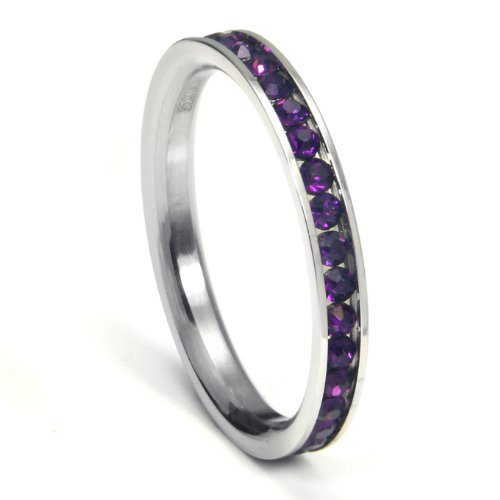 Stackable Birthstone Eternity Band - 8