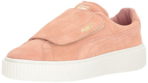 Puma Women's Suede Platform Strap Wn Sneaker, Green Cameo Brown-cameo Brown-marshmallow